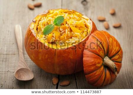 stuffed pumpkin and risotto stock photo © m-studio
