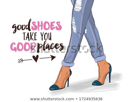 高い · フェティッシュ · 靴 · 孤立した · 白 · 自然 - ストックフォト © ariwasabi