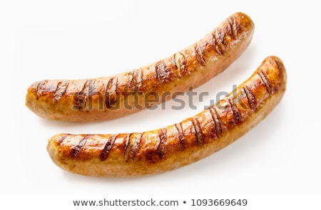 German sausage isolated on a white background Stock photo © shutswis
