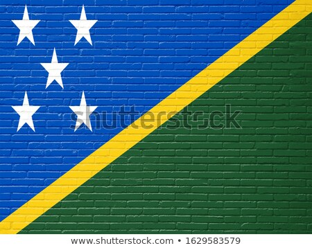 Flag of Solomon Islands on brick wall Stock photo © creisinger