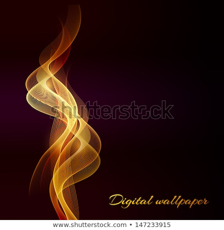 Stock photo: Black fume abstract waves
