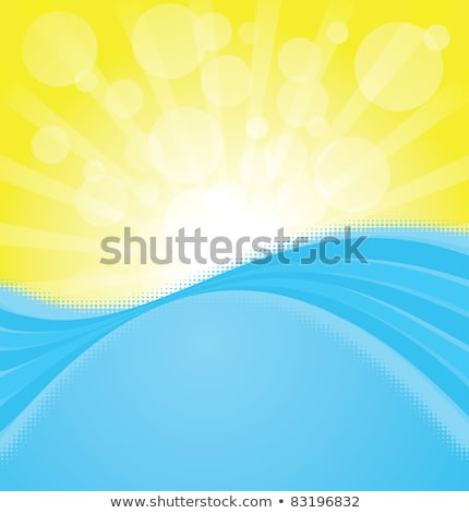 absztrakt · citromsárga · izzó · görbe · formák · terv - stock fotó © beholdereye