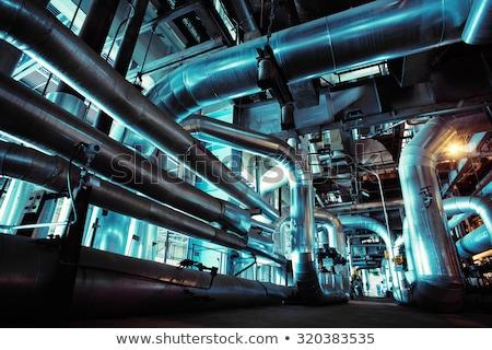 Industrial azul fondo metal mercado gas Foto stock © tashatuvango
