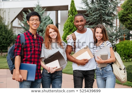 Young girl with a rucksack and file Stock photo © photography33
