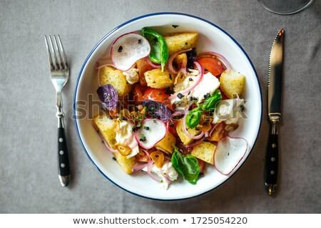 Appetitoso bianco ravanello vegetali foglie Foto d'archivio © lithian