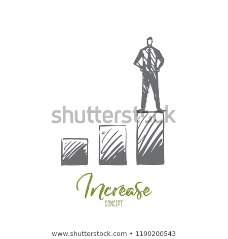 Stock photo: Hand and high stack of coins