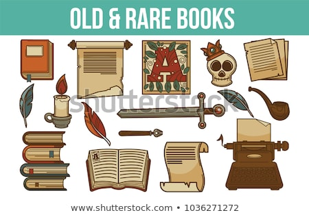 old book with skull stock photo © pterwort