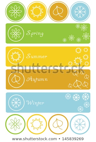 snow flake sticker isolated on white background 4 stock photo © robertosch