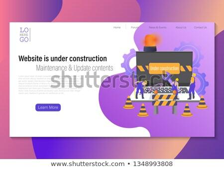 Pracownik budowlany qr code wizytówkę działalności wprowadzenie Zdjęcia stock © stevanovicigor