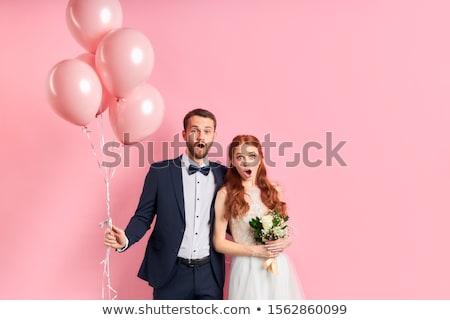Zdjęcia stock: Oblubienicy · dość · suknia · ślubna · kobieta · uśmiech