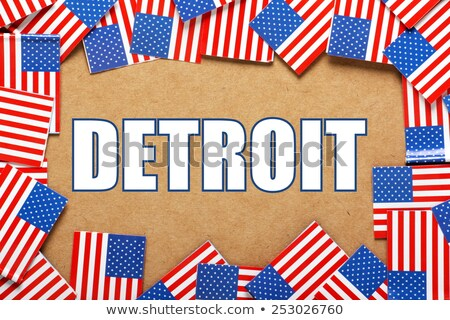 Miniature Flag of Detroit Michigan Stock photo © bosphorus