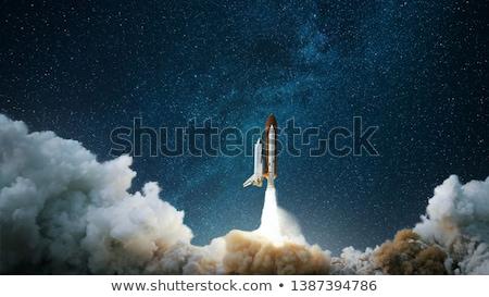 űrhajó szív gyermek vektor fehér háttér clip art Stock fotó © zzve