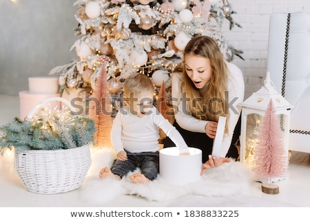 young pretty woman with gifts stock photo © pasiphae