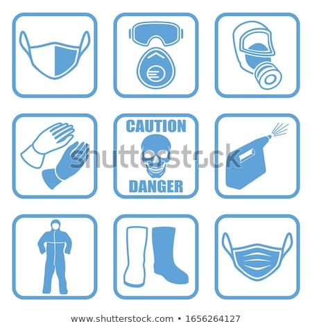 radioativo · assinar · azul · vetor · ícone · botão - foto stock © cteconsulting