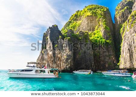 Сток-фото: известняк · пород · Краби · Таиланд · морем · природы