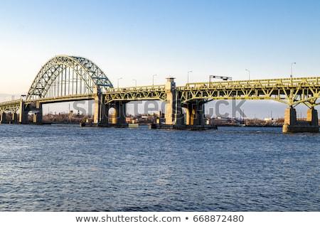 Metal most Delaware rzeki Zdjęcia stock © njnightsky