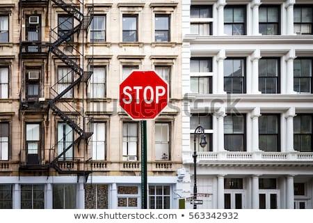 old red stop sign Stock photo © balasoiu