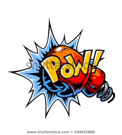 boxeo · boxeador · hombre · guantes · de · boxeo · mirando · enojado - foto stock © lightsource