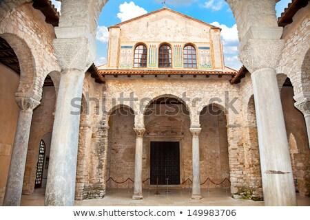 Euphrasian Church Atrium in Porec, Croatia Stock photo © anshar