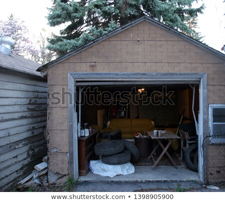 messy abandoned garage full of stuff stock photo © lunamarina
