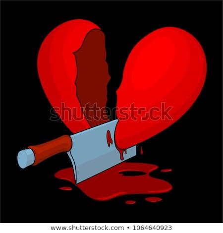 Sangrento faca quebrado doce doce Foto stock © lunamarina