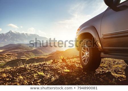 Auto guida strada sterrata view lato caldo Foto d'archivio © jrstock