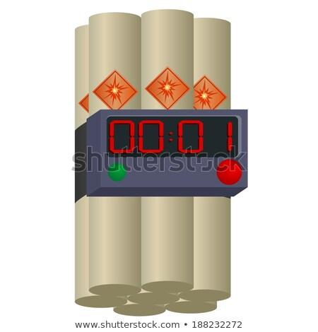 explosive dynamite and clockwork vector illustration Stock photo © konturvid