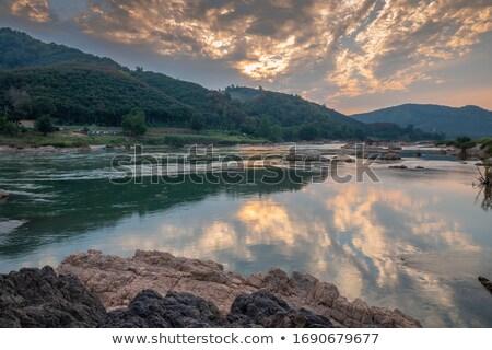 Rivier hdr ochtend hoog dynamisch Stockfoto © ca2hill