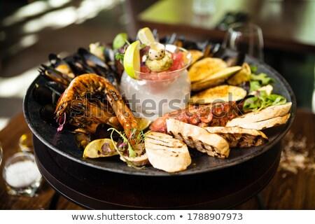 two mussels with lemon Stock photo © Antonio-S