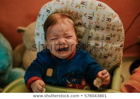 bonitinho · menino · raiva · isolado · branco · crianças - foto stock © vladacanon