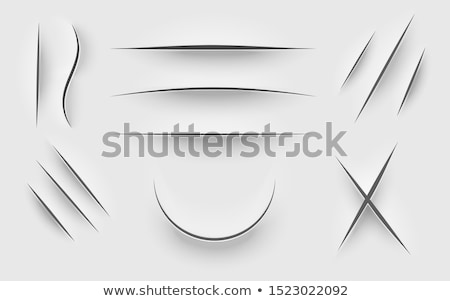 Stock photo: vector paper knife pattern
