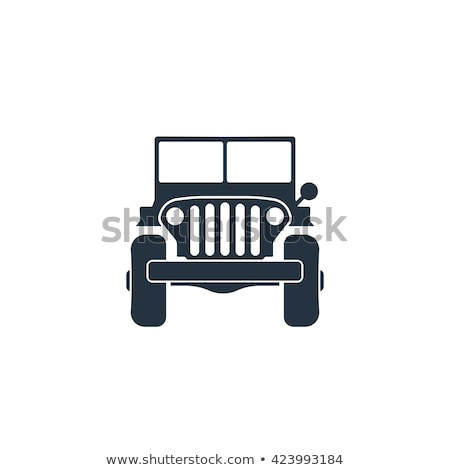 vintage · militaire · voertuig · gestileerde · grunge · weg - stockfoto © mechanik