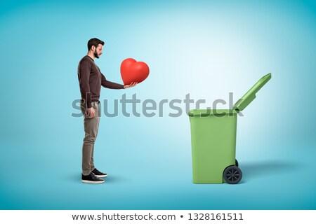 heart trash Stock photo © alexmillos
