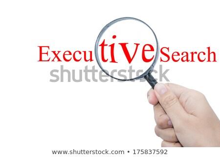 Executive Search. Yellow Sticker on Bulletin. Stock photo © tashatuvango
