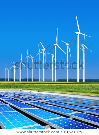 environmentally benign wind turbines Stock photo © ssuaphoto