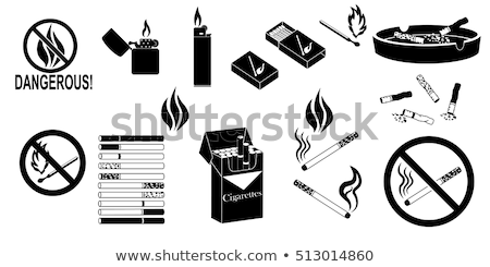 ardente · cigarro · ilustração · branco · saúde - foto stock © pxhidalgo