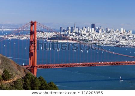Stok fotoğraf: San · Francisco · panorama · Golden · Gate · Köprüsü · dağlık · iş · su
