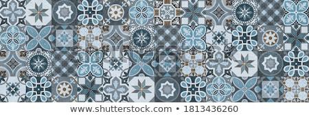 Stock photo: Vintage spanish style ceramic tiles