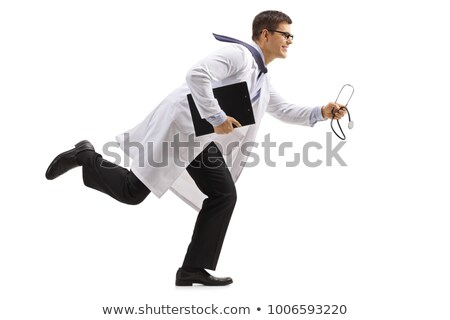 Stock photo: Running Doctor.