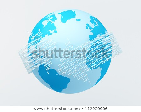 アジア データ バイナリコード 技術 ストリーム 世界中 ストックフォト © fenton