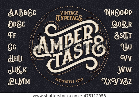 Vector retro type font. Vintage alphabet stock photo © odes