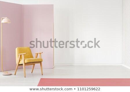 Lege kamer paars marmer vloer witte muur Stockfoto © w20er
