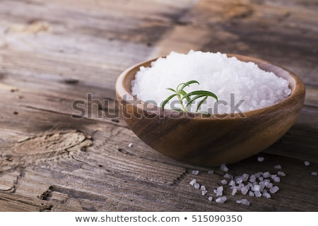 Stock photo: Sea salt with rosemary