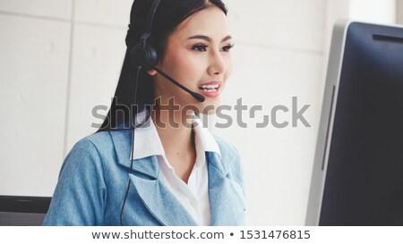 feliz · jóvenes · Asia · mujer · de · trabajo · teléfono - foto stock © diego_cervo