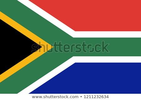Bandera Sudáfrica fútbol equipo país Foto stock © MikhailMishchenko