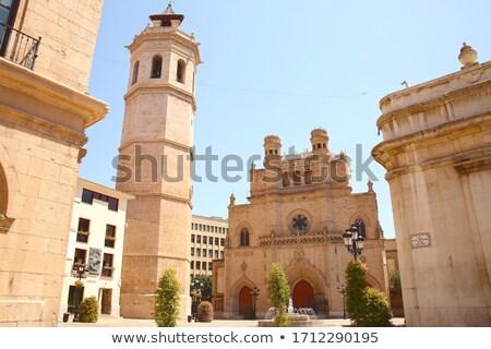 Castellon el Fadri belfry tower in Plaza Mayor square Stock photo © lunamarina
