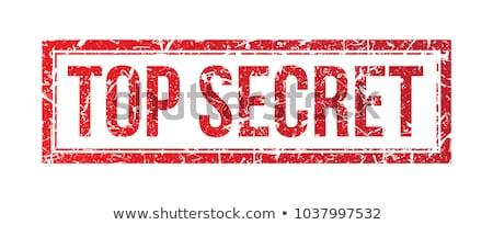 Felső titok pecsét vektor iroda absztrakt Stock fotó © burakowski