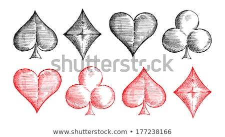 hand drawn heart set 4 stock photo © burakowski