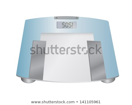 The Word Obese On A Weight Scale Illustration Design Over White Photo stock © alexmillos