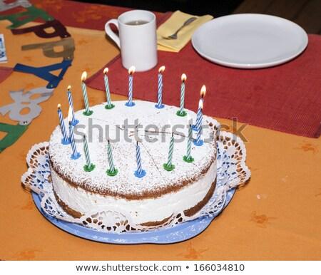 именинный торт таблице свечей готовый празднования Сток-фото © meinzahn